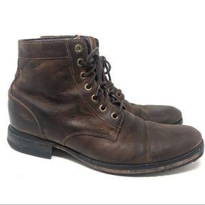 Cole Haan Leather Ankle Boots Vintage Brown 10 M